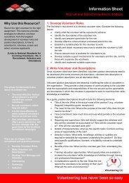 Recruit and select volunteers - Volunteering Qld