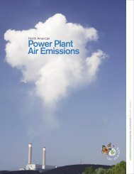 North American Power Plant Emissions - Commission for ...