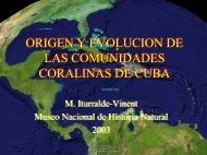 origen y evolucion de las formaciones coralinas de cuba