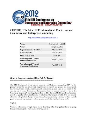 CEC 2012 - IEEE Computer Society