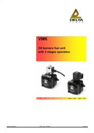 VMK Oil burners fuel unit with 2 stages operation