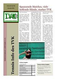 Tennis Info des TVK - Tennisverein Köppern eV