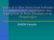 Analyse de la filière laitière locale burkinabè: Les acteurs ... - REPOL