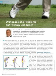 Orthopädische Probleme auf Fairway und Green