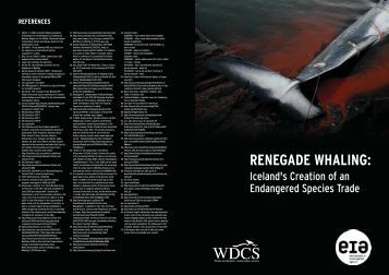 RENEGADE WHALING: - Environmental Investigation Agency