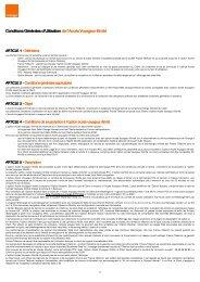 Conditions Générales d'Utilisation de l'Accès ... - Orange mobile