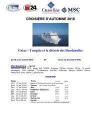 Programme croisière d'automne - Tribune de Genève