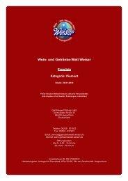 Preisliste für Kategorie: Piemont - und Getränke-Welt Weiser
