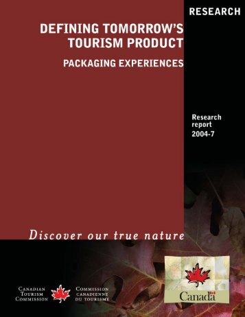 Packaging Experiences - Department of Tourism and Culture