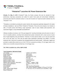 Tributaries Launches AC Power Extension Bar - Tributaries Cable