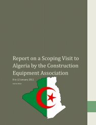 Report on a Scoping Visit to Algeria by the CEA: 08-12 January 2011