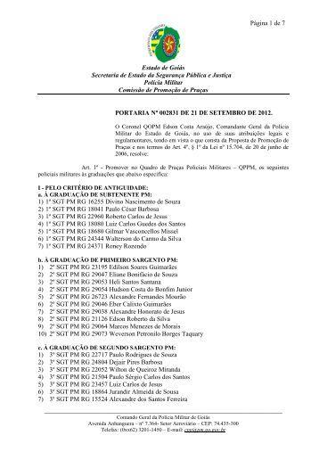PORTARIA Nº 002831 DE 21 DE SETEMBRO DE -  Polícia Militar do ...