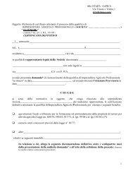Richiesta certificato definitivo attestante il possesso della qualifica di ...