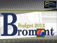 Budget 2012 - Ville de Bromont
