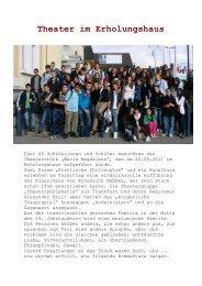 Theater im Erholungshaus - Realschule Am Stadtpark