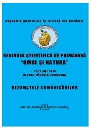 """sesiunea ştiinţifică de primăvară """"omul şi natura"""" 21-22 mai 2010 ..."""
