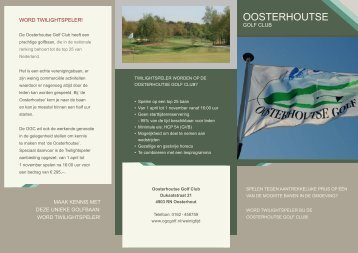 Download de brochure - Oosterhoutse Golf Club