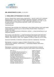 Kerhotiedote 2 - 2013, 1.3.2013.pdf - Suomen Moottoriliitto SML ry.