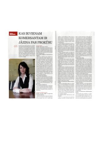 Saldo: Kas ikvienam komersantam jāzina par prokūru - Sorainen