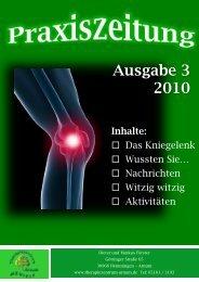 Therapiezentrum Arnum 18 …seit der letzten Ausgabe