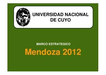 Mendoza 2012 - Universidad Nacional de Cuyo