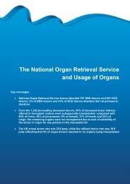 The National Organ Retrieval Service and Usage ... - Organ Donation