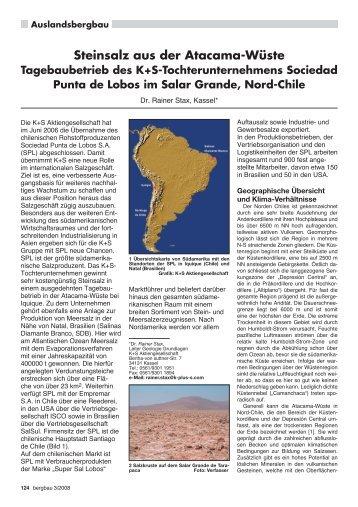 Steinsalz aus der Atacama-Wüste Tagebaubetrieb des K+ ... - RDB eV