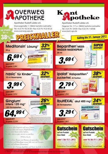 4,64 € Sie sparen - Overweg-Apotheke