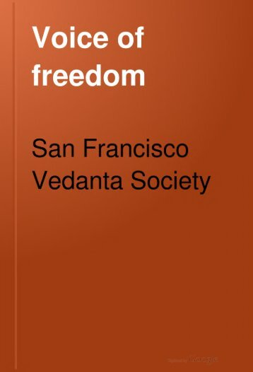 Voice of freedom - Swami Vivekananda