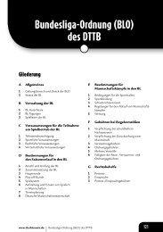 Bundesliga-Ordnung (BLO) des DTTB - Deutscher Tischtennisbund ...