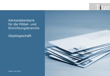 Adressdatenbank für die Möbel - Unternehmensberatung  Titze GmbH