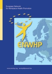European Network for Workplace Health Promotion - Promocja ...