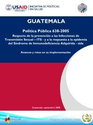 Politica Publica 638-2005 - Health Policy Initiative