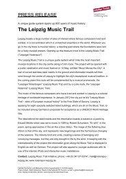 The Leipzig Music Trail - PersPagina