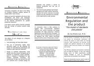 Environmental Regulation & the Product - 3DayCar