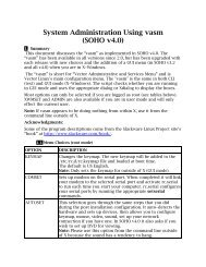 System Administration Using vasm (SOHO v4.0) - From: ibiblio.org