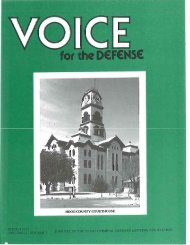 HOOD COUNTY COURTHOUSE - Voice For The Defense Online
