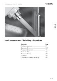 Level measurement/Switching – Capacitive