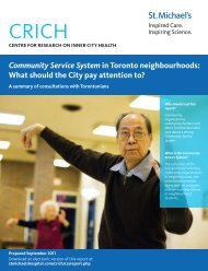 Community Service System in Toronto neighbourhoods - What ...