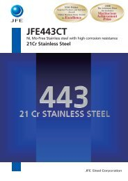 JFE443CT 21Cr Stainless Steel