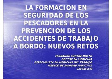 LA FORMACION EN SEGURIDAD DE LOS PESCADORES ... - SEMM