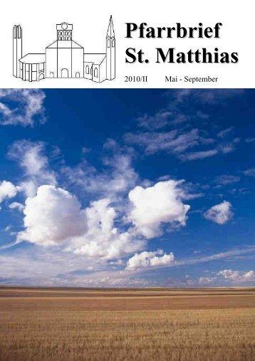 Pfarrbrief 2010_2_komp.pdf - St. Matthias