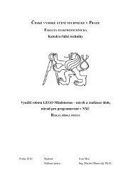 návrh a realizace úloh, návod pro programování v NXC - Hlavní strana