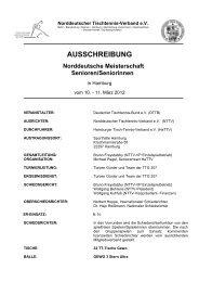 AUSSCHREIBUNG Norddeutsche Meisterschaft Senioren ...