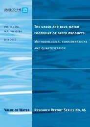 The water footprint of paper products: a discussion on determining ...