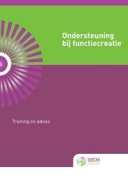 Dowload de Brochure ondersteuning bij functiecreatie - SBCM