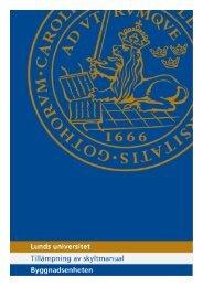 Lunds universitets skyltmanual (PDF 1,9 MB - Nytt fönster)