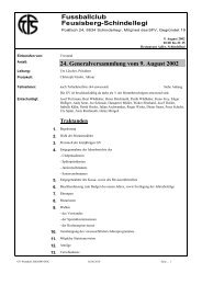 GV Protokoll 2002 - FC Feusisberg-Schindellegi