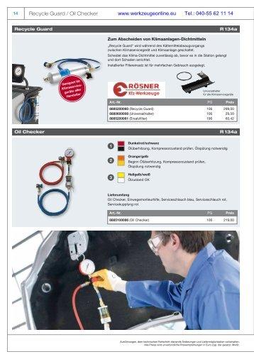 Bestellfax - Rösner KFZ Werkzeuge