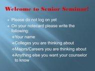 Senior Seminar Powerpoint 2012-13 - Elkhorn Public Schools